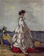 Eugene Boudin  - Bilder Gemälde - Princess Pauline Metternich on the Beach