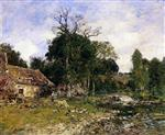 Eugene Boudin  - Bilder Gemälde - The Old Mill at Saint-Ceneri