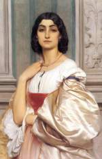 Lord Frederic Leighton - paintings - A Roman Lady