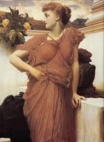 Lord Frederic Leighton - paintings - At the Fountain