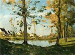 Henri Joseph Harpignies - Bilder Gemälde - Autumn at Saint-Privé