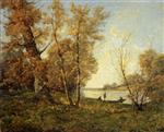 Henri Joseph Harpignies - Bilder Gemälde - Banks of the Loire
