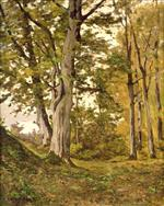 Henri Joseph Harpignies - Bilder Gemälde - Forest at Fontainebleau