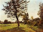 Henri Joseph Harpignies - Bilder Gemälde - Meadow, Sunlight Effect