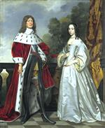 Gerrit van Honthorst - Bilder Gemälde - Frederick William, Elector of Brandenburg and Luise Henriette, Countess of Nass