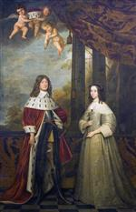 Gerrit van Honthorst - Bilder Gemälde - Frederick William, Elector of Brandenburg and Luise Henriette, Countess of Nassau