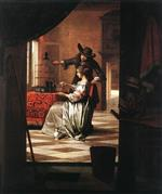 Pieter de Hooch - Bilder Gemälde - Couple with Parrot