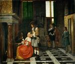 Pieter de Hooch  - Bilder Gemälde - The Card Players