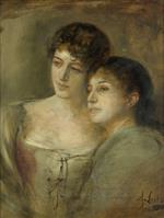 Bild:Half-length Portrait of Two Young Ladies