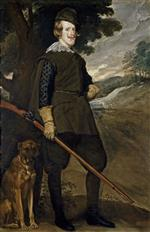 Franz von Lenbach - Bilder Gemälde - King Philip IV of Spain in Hunting Costume