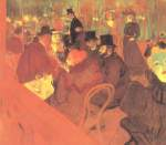 Henri de Toulouse Lautrec - paintings - Das Promenoir des »Moulin Rouge«