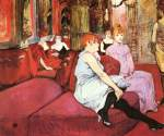 Henri de Toulouse Lautrec - paintings - Der Salon in der Rue des Moulins