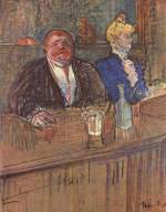 Henri de Toulouse Lautrec - paintings - At the Cafe, The Customer and the Anemic Cashier