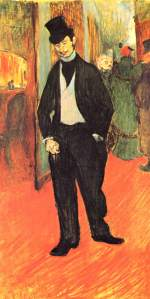 Henri de Toulouse Lautrec - paintings - Dr. Tapie de Celeyran im Theaterfoyer