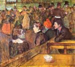 Henri de Toulouse Lautrec - paintings - Im Moulin de la Galette