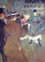 Henri de Toulouse Lautrec - paintings - Im Moulin Rouge, Beginn der Quadrille