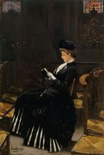 Jean Beraud - Bilder Gemälde - A Woman at Prayer