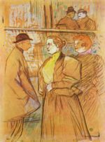 Henri de Toulouse Lautrec - paintings - Im Moulin Rouge