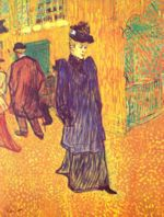 Henri de Toulouse Lautrec - paintings - Jane Avril verlaesst das Moulin Rouge