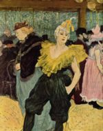 Henri de Toulouse Lautrec - paintings - La Clownesse Cha U Ka O in Moulin Rouge