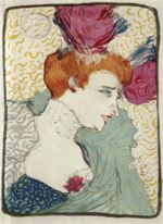 Henri de Toulouse Lautrec - paintings - Marcelle Lender in »Chilperic«