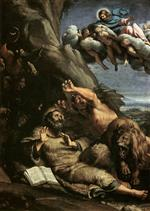 Annibale Carracci - Bilder Gemälde - Christ Appearing to Saint Anthony Abbot