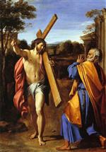 Annibale Carracci - Bilder Gemälde - Christ appearing to Saint Peter on the Appian Way