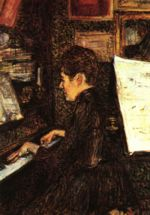Henri de Toulouse Lautrec - paintings - Mlle Dihau au piano (Frl. Dihau am Klavier)