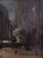 James Abbott McNeill Whistler - paintings - Nocturne in Black and Gold (The Falling Rocket)