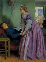 Arthur Hughes  - Bilder Gemälde - That was a Piedmontese