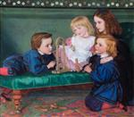 Arthur Hughes  - Bilder Gemälde - The Children of Birkbeck Hill