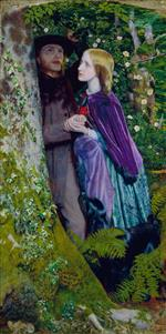 Arthur Hughes  - Bilder Gemälde - The Long Engagement