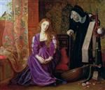 Arthur Hughes  - Bilder Gemälde - The Pained Heart
