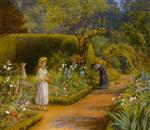 Arthur Hughes  - Bilder Gemälde - Visit to Grandmother