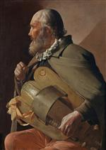 Georges de La Tour - Bilder Gemälde - Blind Hurdy-Gurdy Player