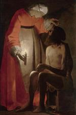 Georges de La Tour - Bilder Gemälde - Job Mocked by His Wife