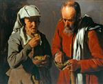 Georges de La Tour - Bilder Gemälde - Peasant Couple Eating