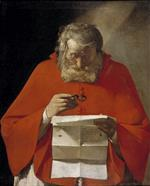 Georges de La Tour - Bilder Gemälde - Saint Jerome Reading a Letter
