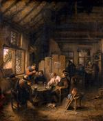 Adriaen van Ostade  - Bilder Gemälde - The Table in the Village Inn