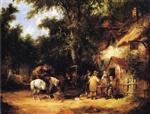 William Joseph Shayer - Bilder Gemälde - At the Bell Inn, Cadnam, New Forest