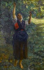Jules Breton - Bilder Gemälde - Fig Picker