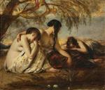 William Etty - Bilder Gemälde - By the waters of Babylon we sat down and wept