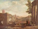 Claude Lorrain - paintings - The Campo Vaccino Rome