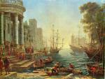 Claude Lorrain - paintings - Port Scene with the Embarkation of St. Ursula
