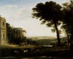 Claude Lorrain - paintings - Landscape with a Sacrifice to Apollo