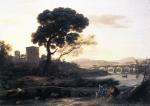 Claude Lorrain - paintings - Landscape with Shepherds (The Pont Molle)