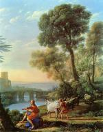 Claude Lorrain - paintings - Landscape with Apollo Guarding the Herds of Admetus