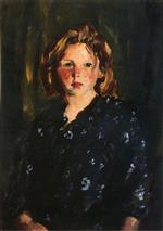 Robert Henri  - Bilder Gemälde - Portrait of a Young Girl