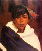 Robert Henri  - Bilder Gemälde - Ricardo, Indian of San Ildefonso