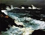 Robert Henri  - Bilder Gemälde - Rough Seas near Lobster Point